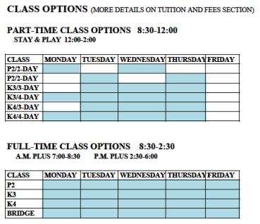 ELA Class Options